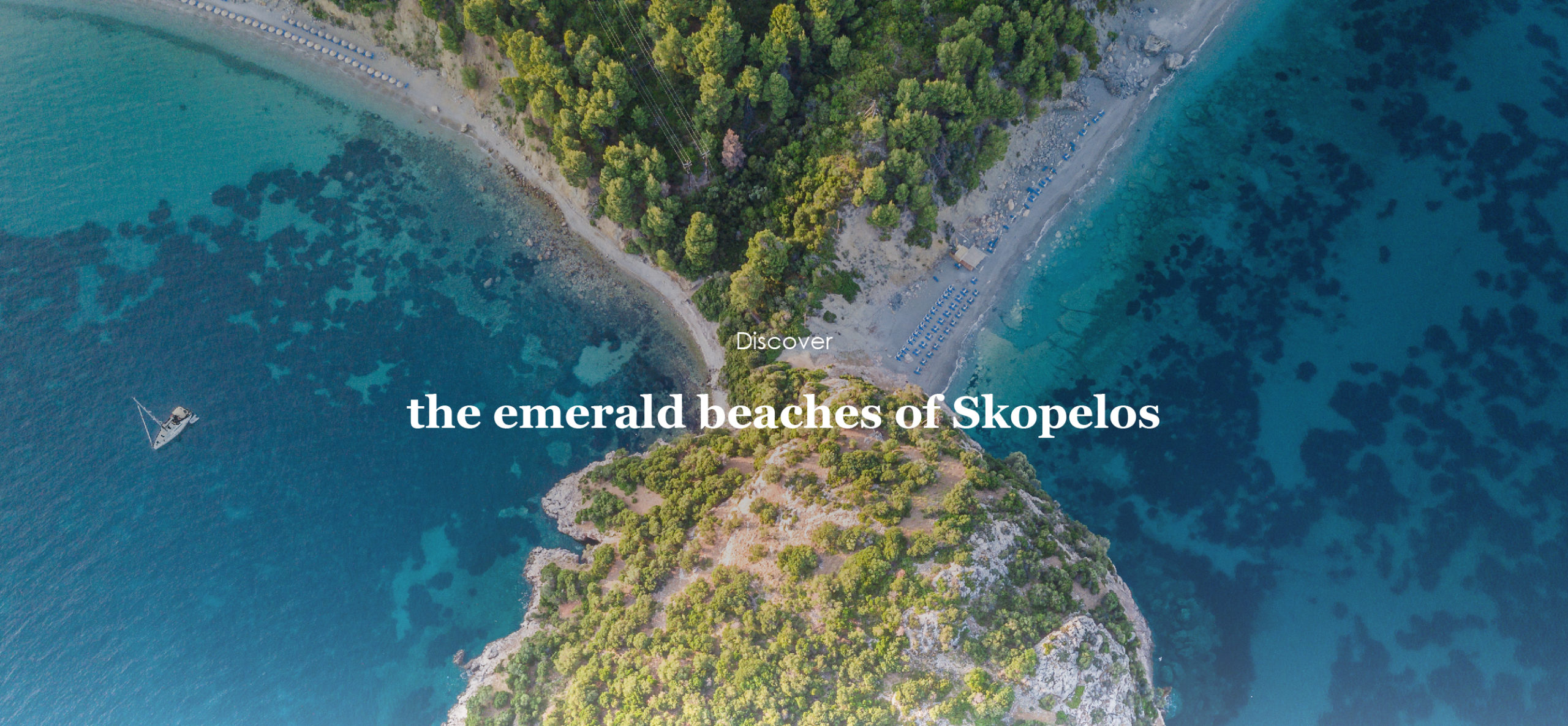 Discover the emerald beaches of Skopelos island